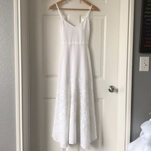 TRACY REESE WHITE Lace Applique Frock Dress Sz S